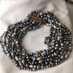 Freshwater pearl multi-strand choker